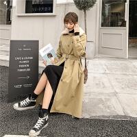 七格格棉衣女冬季装2019年新款中长款过膝韩版宽松派克服风衣