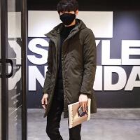 冬季中长款羽绒服男韩版修身长外套青年潮流羽绒衣百搭外穿