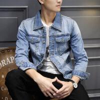 牛仔外套男 上衣夹克褂韩版宽松潮流帅气学生ins学院风修身褂子潮