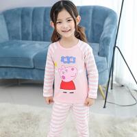 秋季新款套装棉儿童家居服内衣中大童装长袖韩版女童睡衣