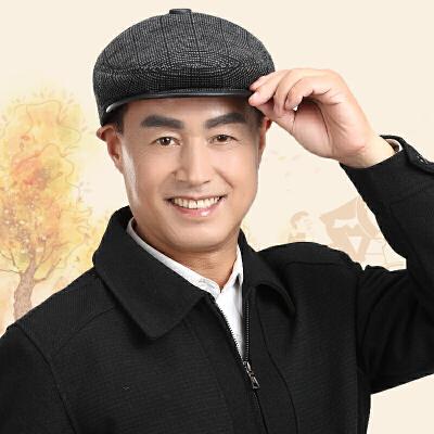 中老年人帽子男士帽子秋冬季爷爷爸爸帽中年帽子老人护耳帽鸭舌帽