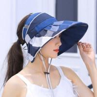 户外太阳帽女防晒韩版时尚百搭旅游帽子遮脸女士半空顶凉帽大檐遮阳帽
