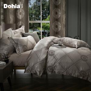 多喜爱秋冬新品提花四件套简约床品套件1.5m1.8m罗威尔