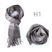 刺绣定制 送男士羊毛围巾圣诞节礼物实用男朋友生日男生年会礼品