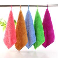 10条装珊瑚绒方巾小毛巾韩式抹布巾柔软吸油吸水超细纤维 10条装每色各2条 25x25cm