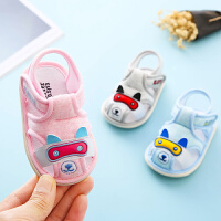 婴儿凉鞋女夏季0-1岁软底防滑男宝宝布鞋透气学步6-12月幼儿鞋子
