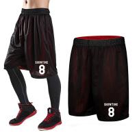 运动短裤男跑步健身运动休闲女大码过膝五分裤训练透气宽松篮球裤 -8号