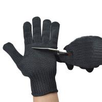 全指劳保加厚型5级不锈钢丝防割手套 户外运动耐磨防身手套不防刺
