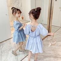女童夏装裙子儿童夏季短袖连衣裙休闲薄款公主裙