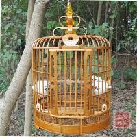 老竹料画眉鸟笼 八哥鸟笼鹩哥笼子凯里笼四川笼 镂空鸟笼配件