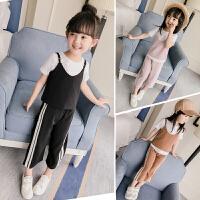 女童运动套装2童装女宝宝夏装儿童夏季潮衣服三件套