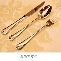 新古典欧式欧美样板间家居餐桌摆件西餐盘餐具餐碟刀叉勺套装全套