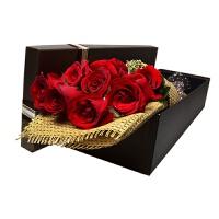 9朵玫瑰花束礼盒送女朋友友老婆情人节 9朵礼盒花束
