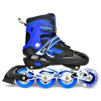 OS儿童旱冰轮子溜冰鞋套装闪光发光轮滑鞋直排全套防护具