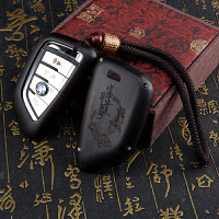 钥匙包 汽车遥控器檀木钥匙包钥匙保护套适用大容量拉链汽车吉利哈弗钥匙扣