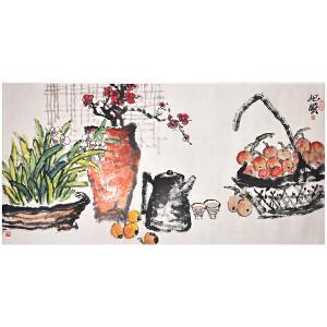 Q895朱屺瞻《蔬果图》