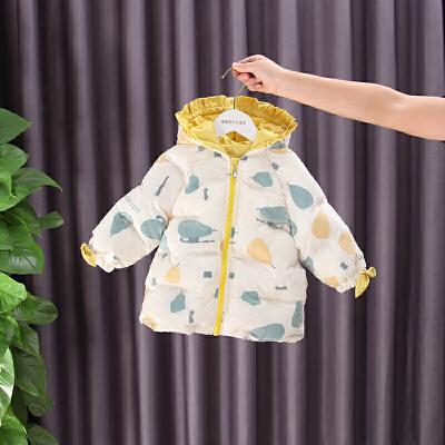 女宝宝棉衣冬装婴儿洋气女童加绒外套保暖羽绒棉袄