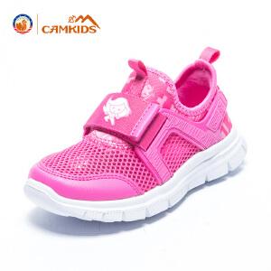 CAMKIDS男女童鞋2018新夏季透气单网户外运动休闲鞋防滑软底休闲时尚跑鞋漫威系列