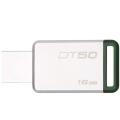 金士顿 (DTSE9  DT SE9H  DTSE9G2 升级版) DT50 16G u盘16gb USB3.1兼容usb3.0 DT50高速车载创意U盘刻字16G 绿色
