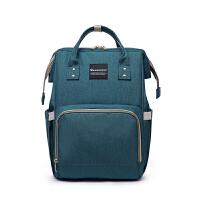 双肩包妈妈包韩版多功能母婴包大容量宝妈包布包时尚外出旅行背包 升级版加手机袋 翠绿色