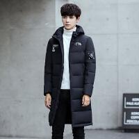 代购男士冬季外套加厚青少年学生羽绒棉衣男中长款韩版修身潮