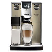 飞利浦(PHILIPS)咖啡机 意式家用全自动带集成式储奶容器 香槟金色不锈钢 HD8915/07