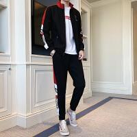 休闲套装男夹克开衫春秋季韩版潮流帅气卫衣修身学生运动两件套