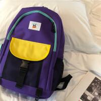 双肩包女 少女校园高中大学生书包街拍大容量旅行背包潮