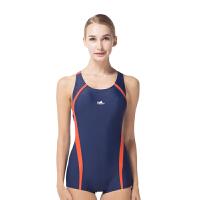 YINGFA英发 女士连体平角泳衣YF1661 女士带胸垫耐氯泳衣