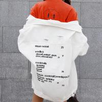 韩版百搭宽松显瘦破洞长袖夹克春季新款刺绣字母牛仔外套学生女潮
