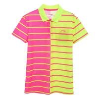 李宁LiNing羽毛球系列儿童比赛上衣 AAYL046 运动半袖T恤