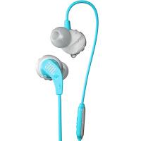【当当自营】JBL Endurance Run 青色 入耳式有线运动音乐耳机耳麦 可通话绕耳式耳麦
