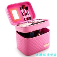 大容量化妆包可爱小号方品中袋随身便携手提收纳盒简约化妆箱