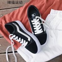 布鞋女秋冬新款时尚休闲鞋舒适平底鞋百搭学生运动跑鞋