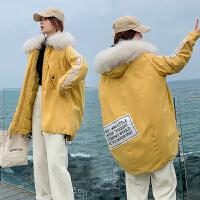 【暖冬季 限时秒杀】2019年冬季新款韩版休闲宽松学生面包服棉衣女装毛领棉服加厚外套加大码