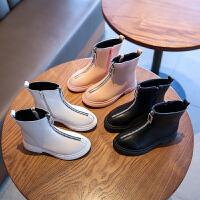 儿童马丁靴秋冬短靴子女童鞋中大童英伦风短皮靴女孩靴子