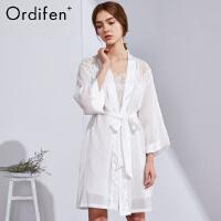 【2件3折后价:269元】欧迪芬女士睡裙商场同款O+系列女士夏季薄款睡衣系带浴袍睡袍长袖PH8706