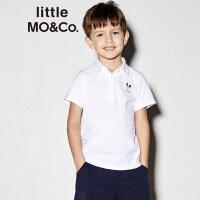 【折后价:131.6】littlemoco夏季新品男童短袖上衣胶印DJ Rooster休闲全棉Polo衫