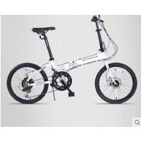 便携收纳自行车单车双碟刹20寸折叠自行车12速男女式变速