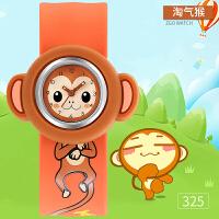时尚卡通儿童拍拍手表小鸡小猪男孩女宝宝幼儿生肖防水可爱啪啪表玩具