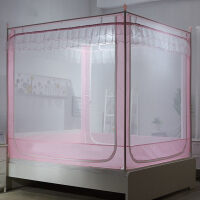 蚊帐三开门不锈钢坐床式拉链1.5m床蒙古包1.8m米床双人床家用蚊帐