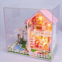 女孩玩具手工娃娃屋仿真房子模型生日礼物儿童女童过家家木质