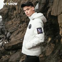 VIISHOW男装新款保暖加厚男士羽绒服短款 冬季时尚修身连帽
