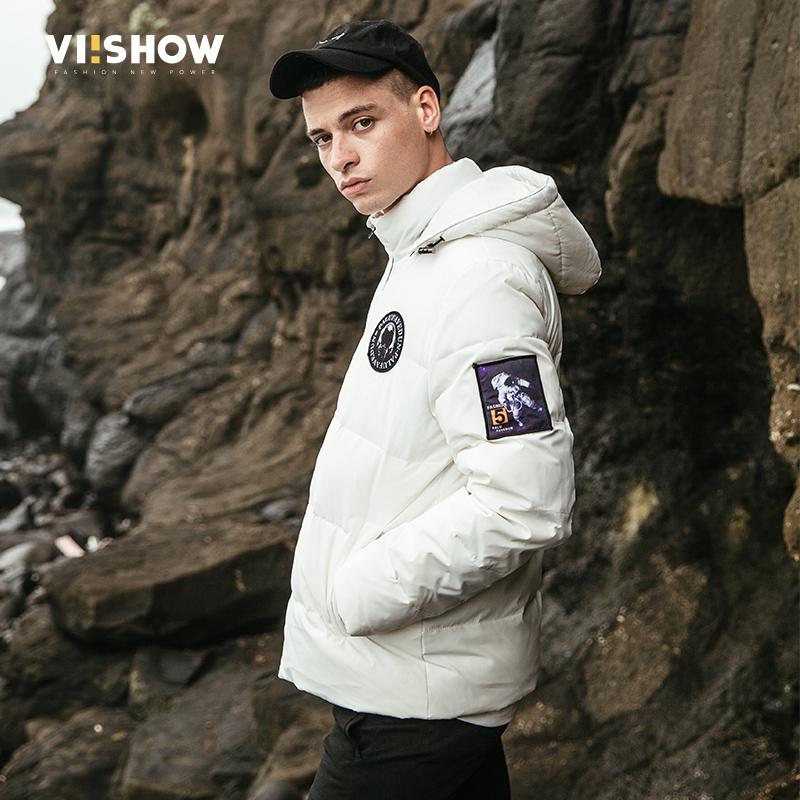VIISHOW男装新款保暖加厚男士羽绒服短款 冬季时尚修身连帽满199减20/满299减30/满499减60 全场包邮