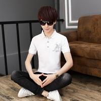 2018年夏季短袖T恤套装男孩衬衫领polo衫韩版中学生