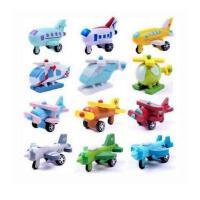 外贸库存玩具日单迷你木制飞机系列十二件套可动飞机玩具和风系列
