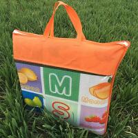 宝宝爬行垫便携可折叠儿童户外防潮防水薄款地垫无味安全整张 双面卡通图案:送手提袋 2.0米*1.8米*厚0.5厘米 送