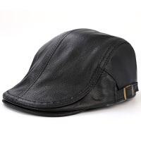 秋季男士真皮贝雷帽薄款女士帽子羊皮帽前进帽休闲鸭舌帽冬季帽子