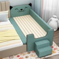 实木儿童床宝宝床拼床婴儿床加宽猫咪小床拼接大床延边拼接床神器