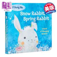【中商原版】点读版小读榜 尹宋那季节之书 il Sung Na Snow Spring Rabbit wifi版 兰登出